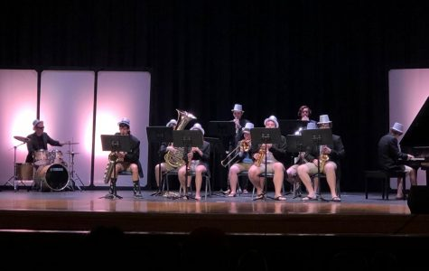 The Board and His Men perform during Act II at the Ocean Lakes Talent Show on March 23.