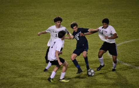 Varsity boys soccer pull a win against Salem