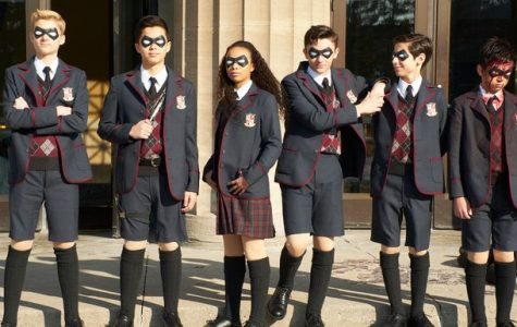 "Seventeen magazine depicts the six kids from the Netflix series, ""The Umbrella Academy."" Picture from seventeen.com."