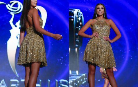 Junior Alexa Arzillo struts down the Teen Miss Earth USA catwalk on July 1.