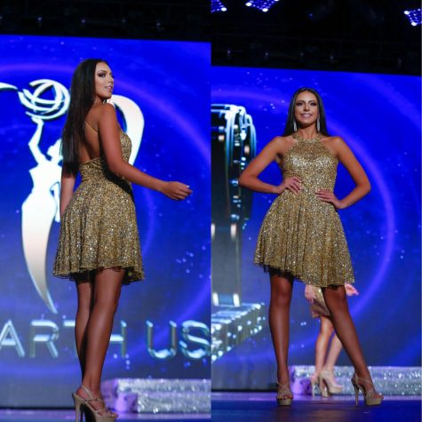 Junior Alexa Arzillo struts down the Teen Miss Earth USA catwalk on July 1.