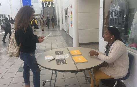 Mary Baldwin University admissions rep visits during lunch