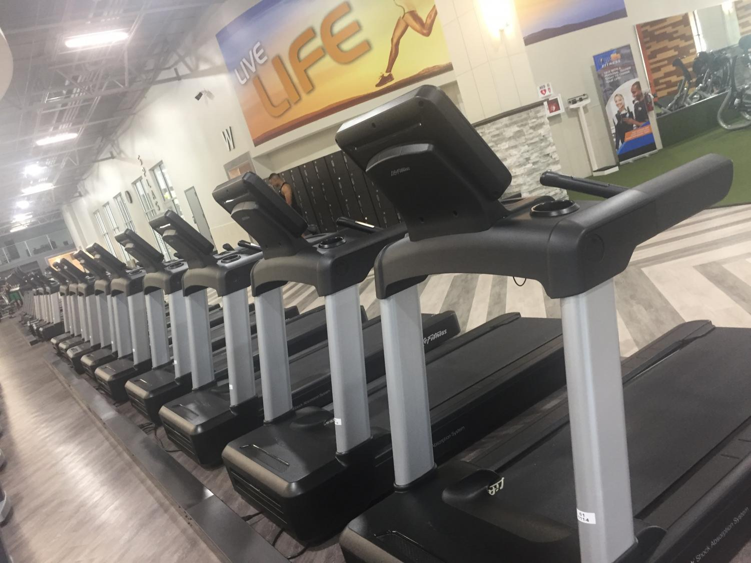 Treadmills at Onelife Fitness Redmill.