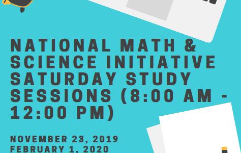 Canva of NMSI Saturday study session created by Josh Garcia