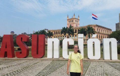 Sophia Libonate upon arrival at Asuncion, Paraguay on Sept. 7.
