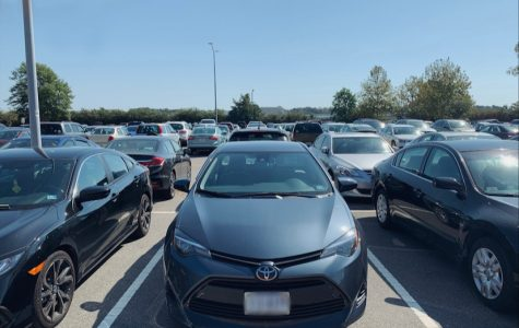 The student parking lot, a perfect example of depreciation. The hundreds of cars parked in the lot lose hundreds of dollars money every day as a result of depreciation. Photo taken on Sept. 26, 2019.