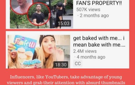 A graphic that portrays examples of poor behavior  found in the videos of YouTubers like  Jason Nash and Tana Mongeau.