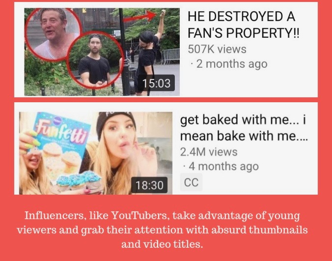 A+graphic+that+portrays+examples+of+poor+behavior++found+in+the+videos+of+YouTubers+like++Jason+Nash+and+Tana+Mongeau.%0A