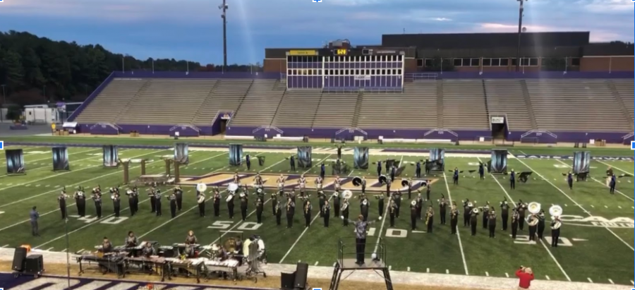 Marching+Dolphins+perform+at+JMU+on+Oct.+19.
