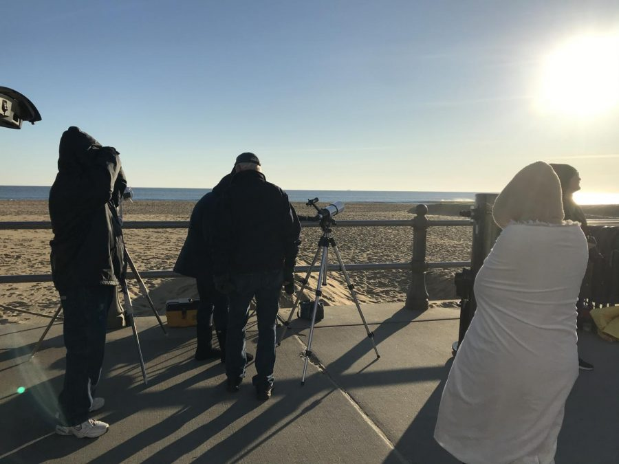 Back+Bay+Amateur+Astronomers+set+up+telescopes+on+the+boardwalk+prior+to+the++transit+on+Nov.+11.