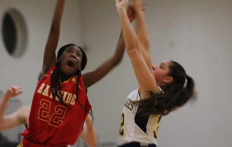 Junior Anita Farashahi shoots the ball during the second half of the home JV game, against Bayside, on Jan. 22.