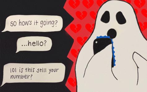 Ghosting cartoon by Meilani Bitanga.