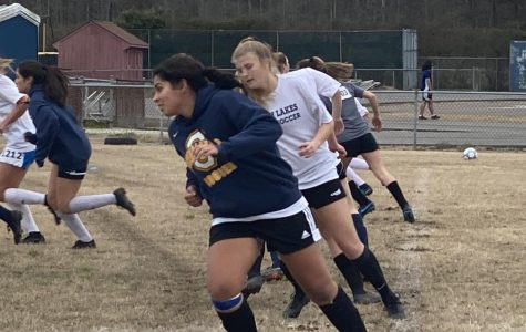 Seniors Andrea Granada and Maria Bettilyon tryout for varsity soccer on Feb. 24, and the team formed on Feb. 26, only to be delayed until further notice.