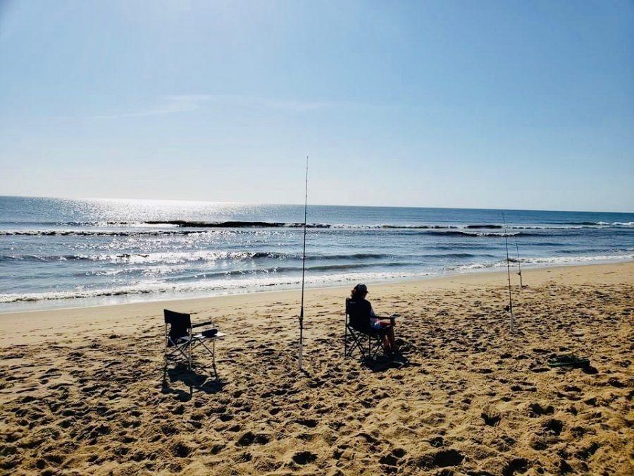 Freshman+Ethan+Locke+tests+his+luck+at+Sandbridge+Beach+Memorial+Day+weekend.