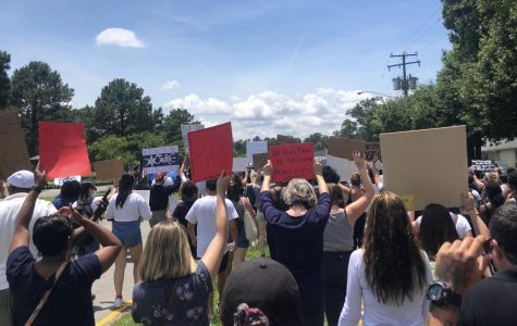 A crowd marches through Virginia Beach on June 6 in protest of police brutality.
