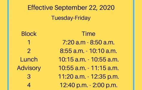Ocean Lakes 2020-2021 virtual and face to face schedule effective Tuesday, Sept. 22, 2020