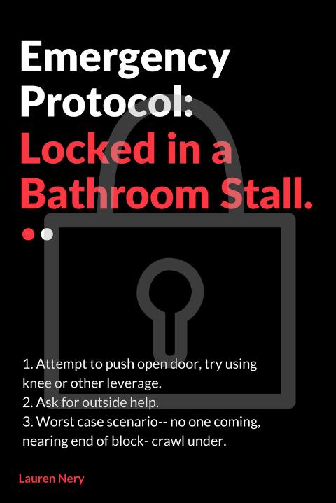 Custodians put a lock on jamming bathroom stall