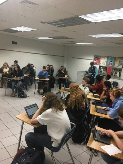 Browns 3A Economics class with  Picture taken on January 31 by Makenna Miller