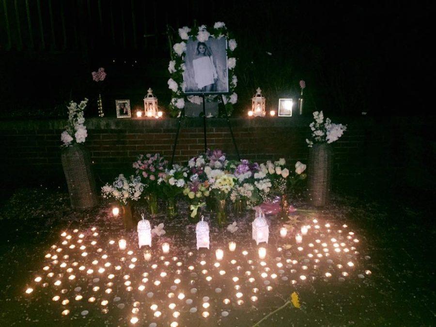 A memorial set up for Neubauer.
