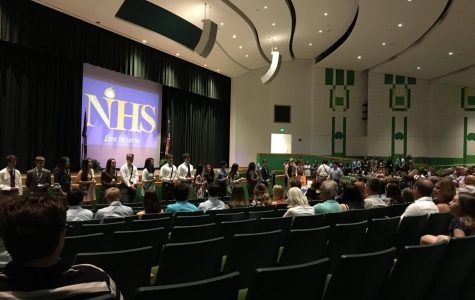 New NHS inductees, parents, and teachers gathered in the auditorium on the night of April 27 for the induction ceremony.