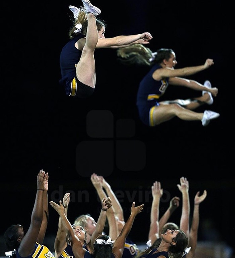 Senior+Cynthia+Braithewaite+flying+during+an+Ocean+Lakes+football+game.+Photo+by+Dan+Trivano.