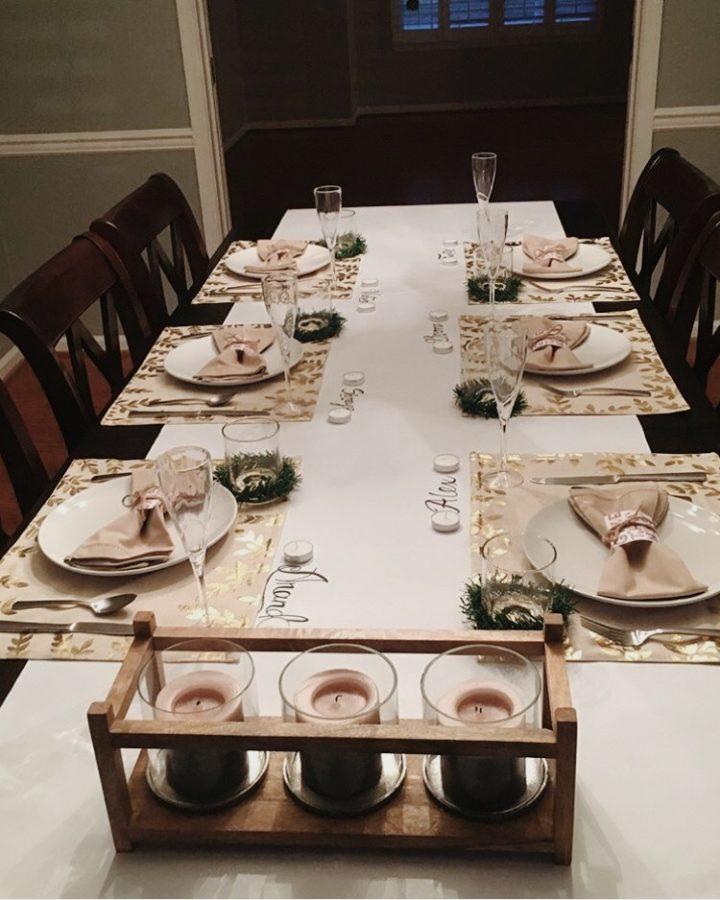 Table Setting at Shreya Raj's Friendsgiving