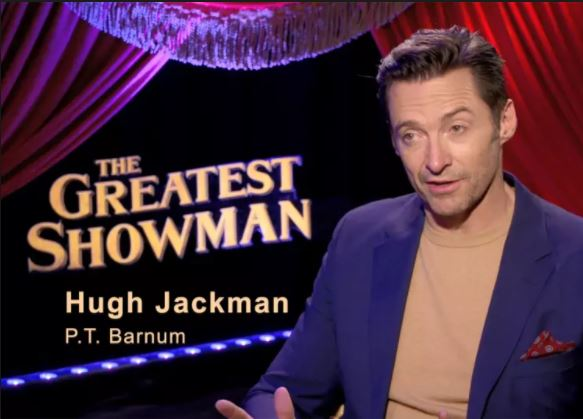 Hugh Jackman promotes the his new inspiring movie The Greatest Showman. Photo courtesy of AMC Theaters.