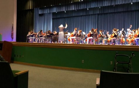 Orchestra concert performs assessment pieces