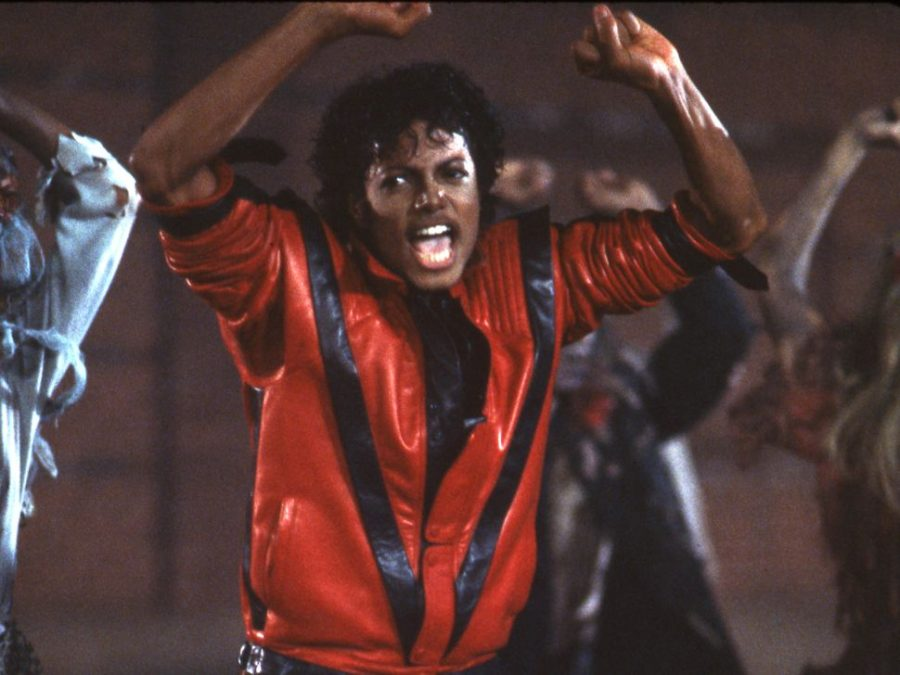 "Jackson busts out some of his most iconic dance moves on the set of the ""Thriller"" music video. Photo courtesy of cnet.com."