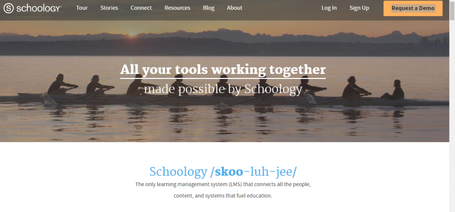 Screenshot of the new Schoology website. Photo by Reese Fields.