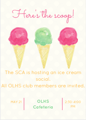 Graphic of ice cream social by Josh Garcia.