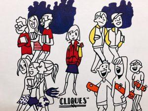 """Cliques """"cartoon"""" drawing."""