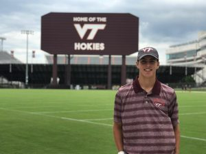 Rising sophomore Carson DeMartini visits Virginia Tech after verbally committing to play baseball at the Division I college.