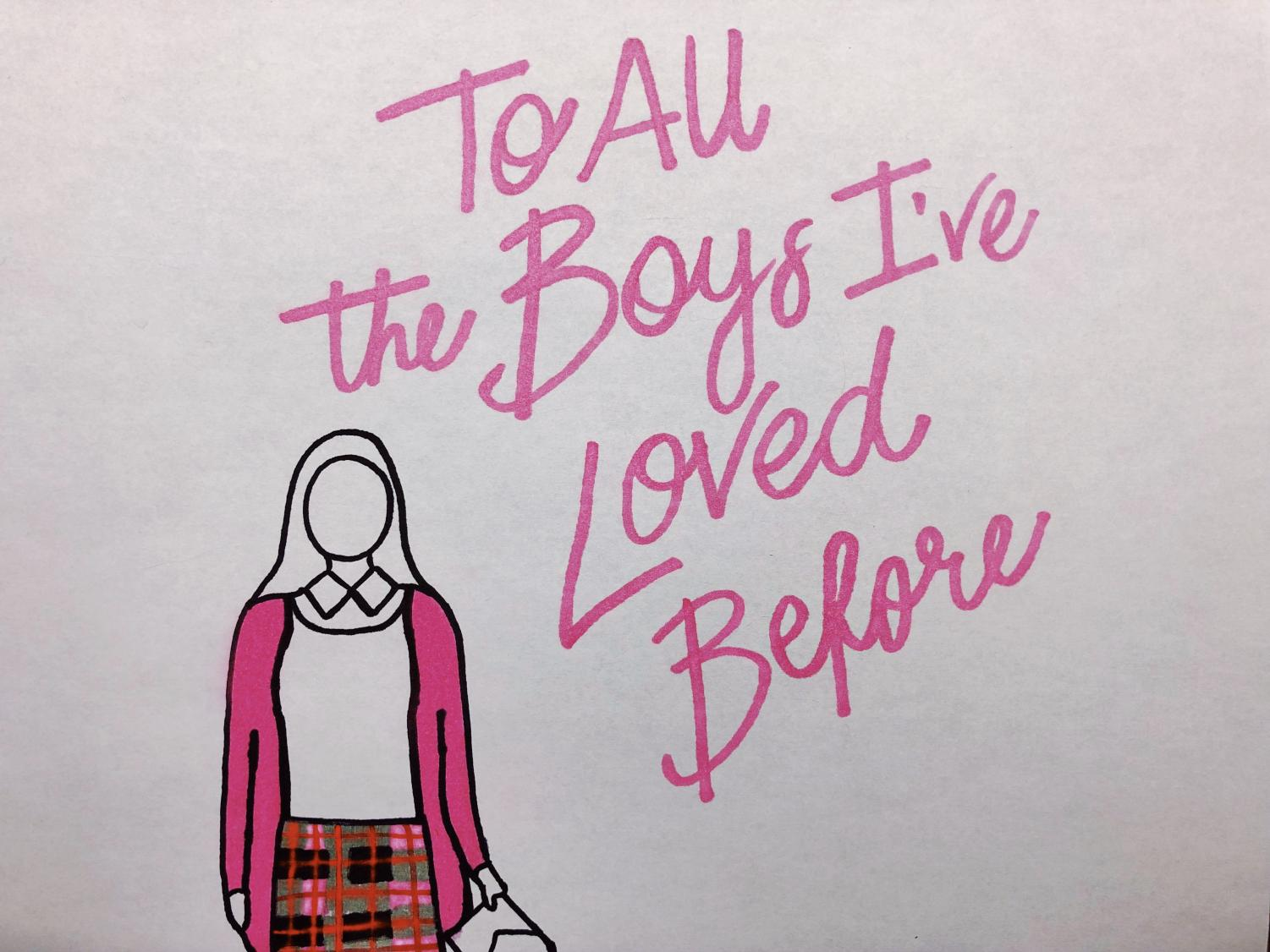 Silhouette drawing of Lara Jean Covey.