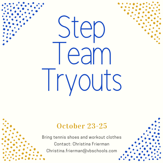 Step team tryouts announced