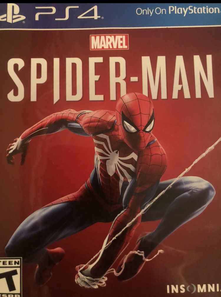 The cover art for Marvel's Spider Man (Video Game).
