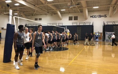 Boys volleyball win against Oscar Smith in first playoff game