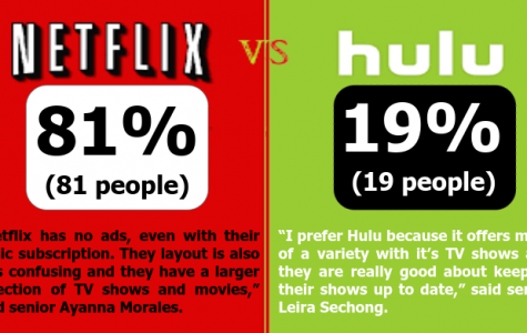 The percentages above represent the results from a poll taken out of 100 students on which streaming site they prefer.