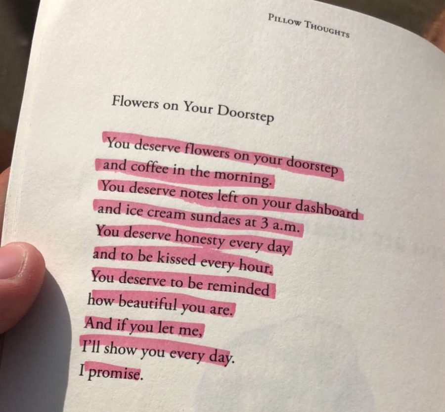 Poetry highlighted as a gift from Shelby Haggerty.