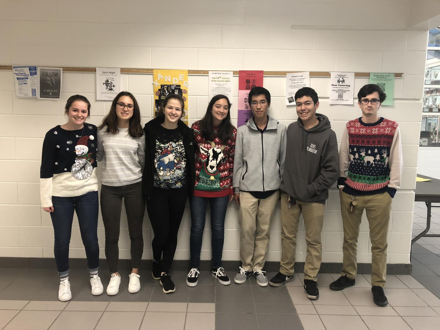 The TARC team from left to right,  juniors Abigail Hicks, Denitsa Dimitrova, Elizabeth Young, Maren Kelley,  Ryoma Harris, senior Ethan Schroeder,  junior Gabriel Chester,  and senior Jefferson Mathews (not pictured).