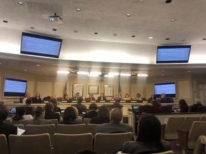 School Board votes unanimously to push high school start times forward at their meeting on Tuesday Nov. 27, 2018 at the School Administration Building.