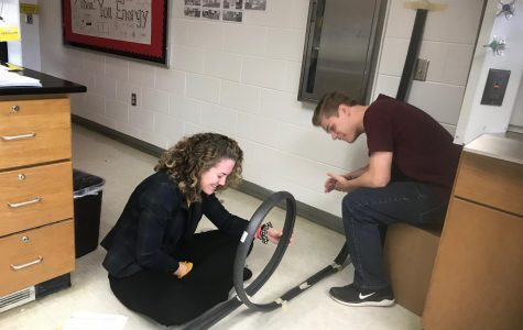 Physics class observes how energy works with roller coaster simulations