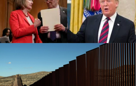 Many Democrats such as Speaker of the House Nancy Pelosi (left) and Senate Minority leader Charles Schumer (middle) continuously fight President Trump's (right) proposal of a border wall.