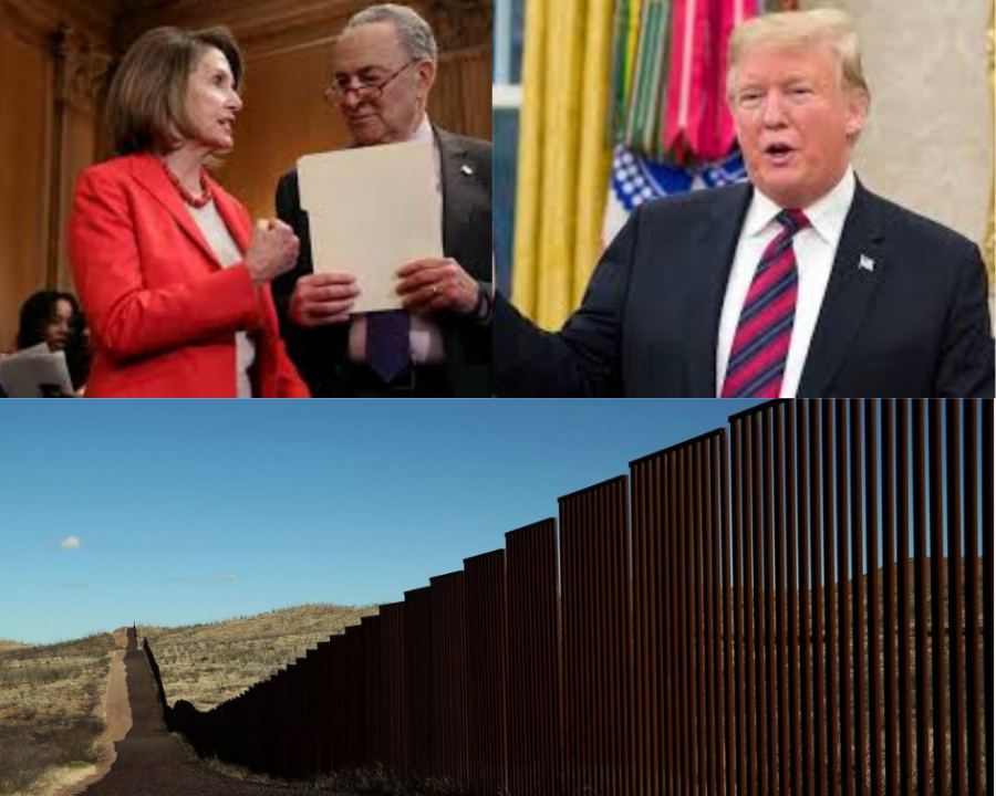 Many+Democrats+such+as+Speaker+of+the+House+Nancy+Pelosi+%28left%29+and+Senate+Minority+leader+Charles+Schumer+%28middle%29+continuously+fight+President+Trump%E2%80%99s+%28right%29+proposal+of+a+border+wall.++%0A
