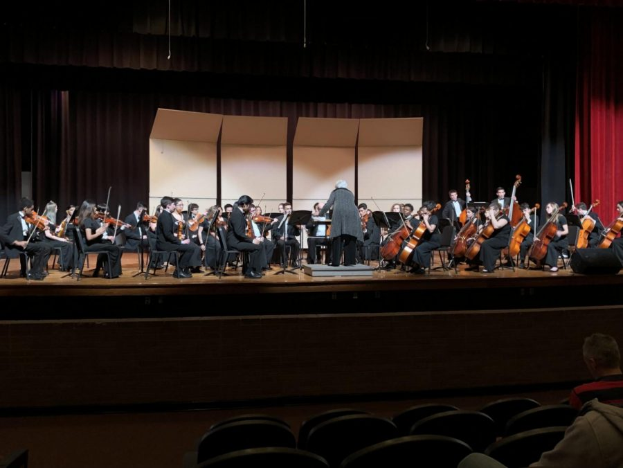 Depicts+chamber+orchestra+playing+on+stage+at+Booker+T.++Washington+high+school.+Picture+taken+by+Makenna+Miller.%0A%0A%0A