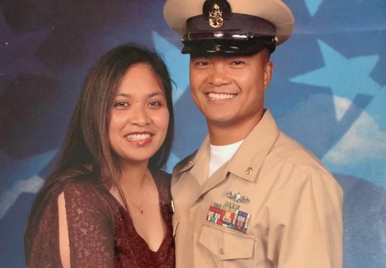 Chief Engineer Orlando Bitanga and his wife Maria Bitanga.