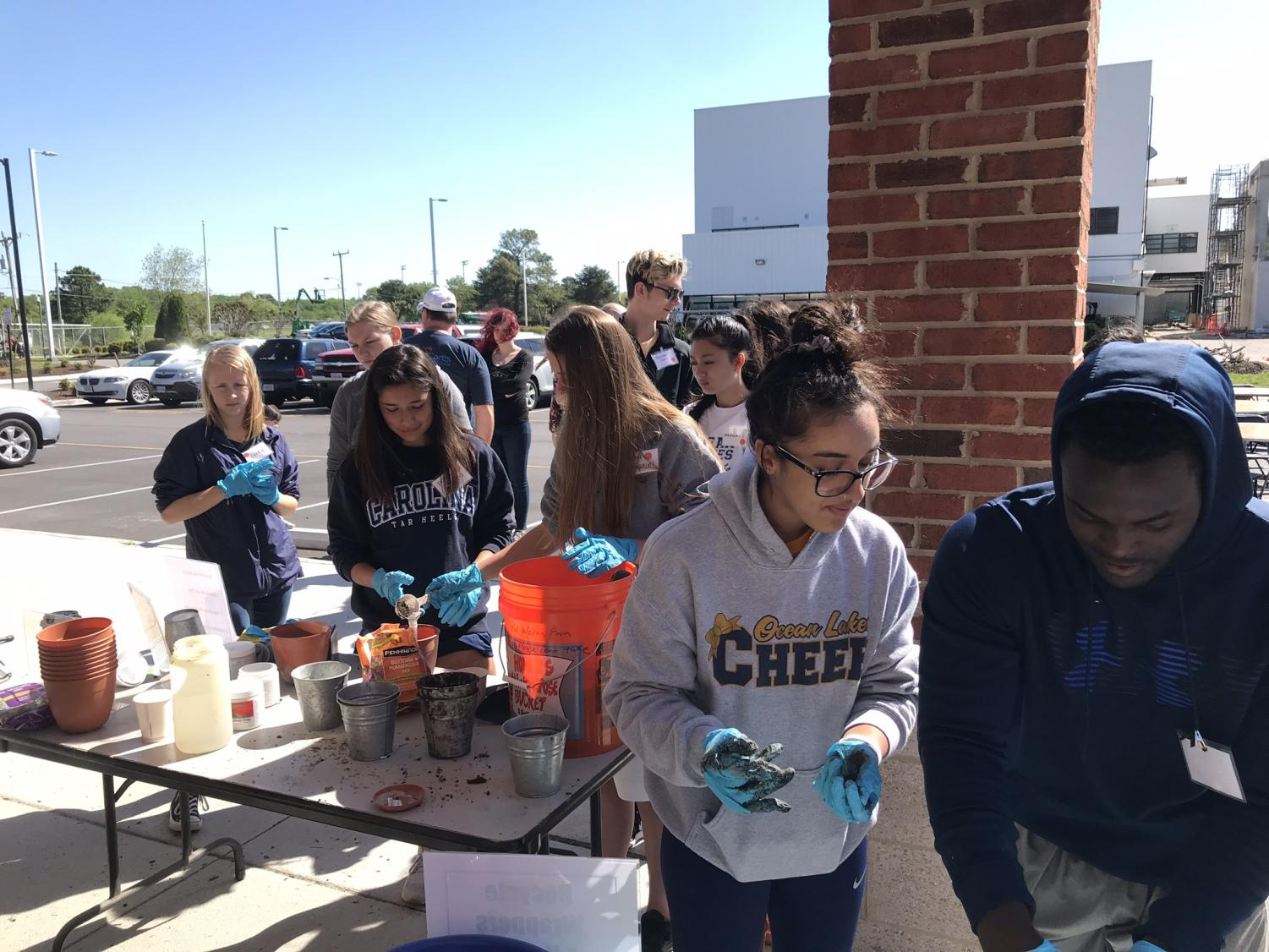 Students take a trip to the HRSD plant to build awareness. Activities included a tour of the plant, creation of seed bombs, water quality tests, and HRSD Swift Aquifer Recharge Demonstrations.