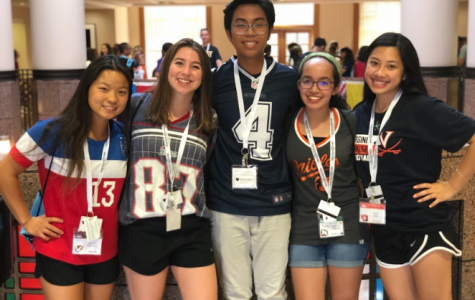 From left to right, Jaedyn Williams, Katie Kerrigan, Jondre Macaraeg, Sophia Libonate, and Nina Dao at Wake Forest for ISLC.