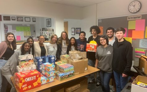 Yearbook club sponsored and packed Beach Bags in room 161. Photo taken on Sept. 13, 2019.