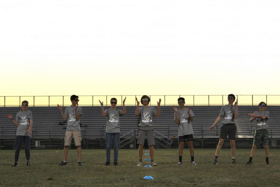 Freshmen dance team clap and do the woah for their dance routine on Oct. 23.